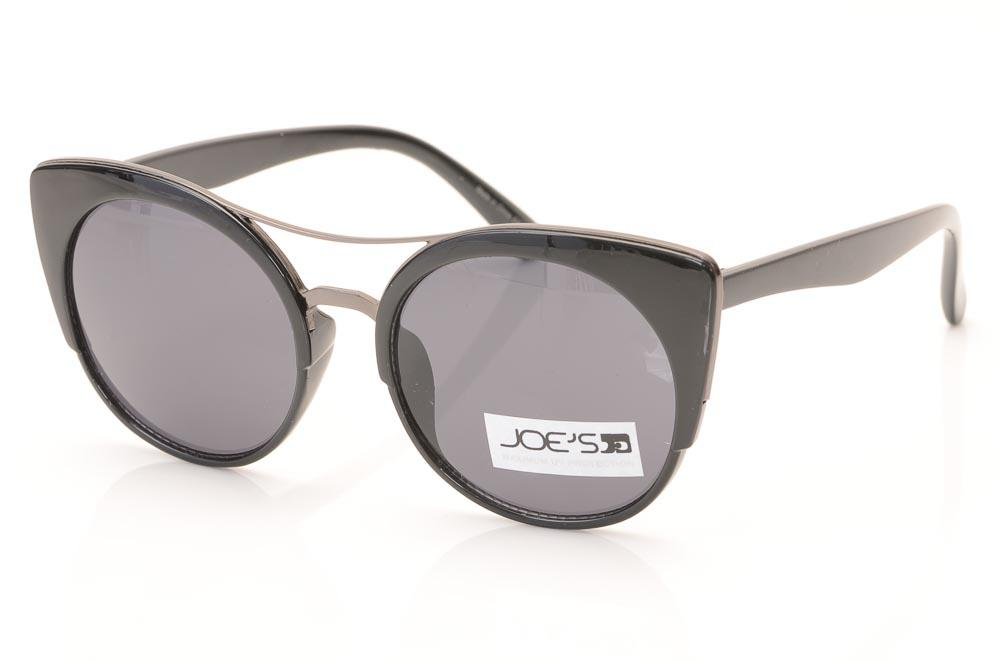 Joe's Cat's Eyes Aviator Frame Sunglasses ACCESSORIES Joe's Black
