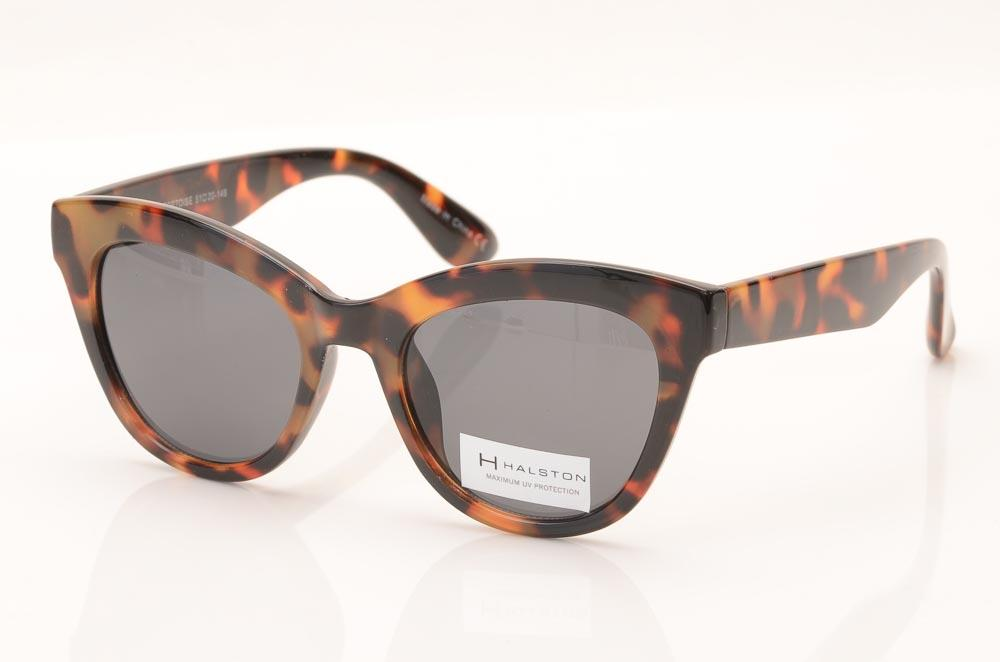 H Halston Heritage Round Cat's Eyes Frame Sunglasses ACCESSORIES H Halston Heritage 51-20-146 Gray