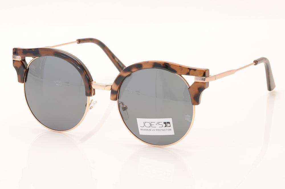 Joe's Satin Cat's Eyes Frame Sunglasses ACCESSORIES Joe's Brown