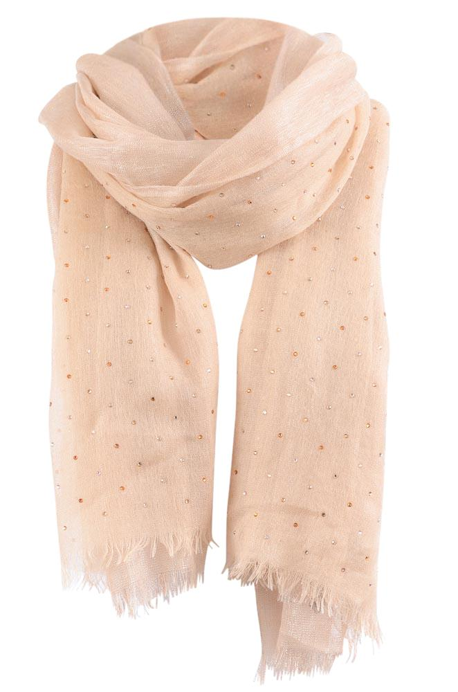 Loro Piana Embellished Stole Scarf ACCESSORIES Loro Piana Beige