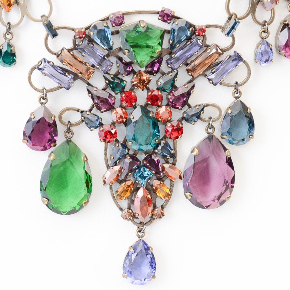 Lanvin Crystal Bib Necklace JEWELRY Lanvin