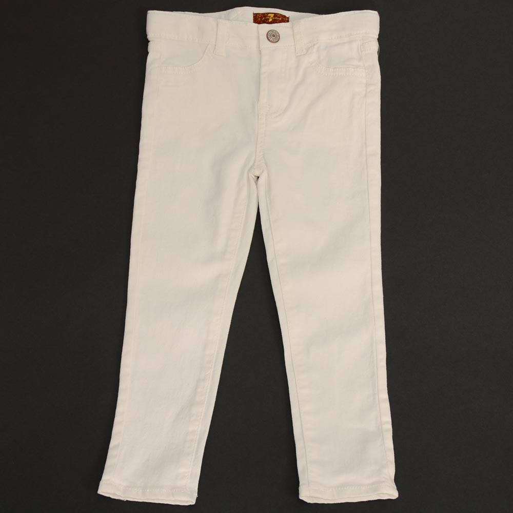 Girl's 7 For All Mankind Jeans APPAREL 7 For All Mankind 4T White