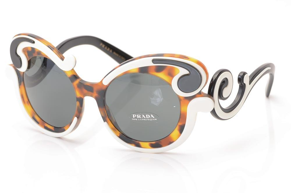 97c9be4f0f Prada Minimal-Baroque Frame Sunglasses ACCESSORIES Prada 52-21-135 Brown