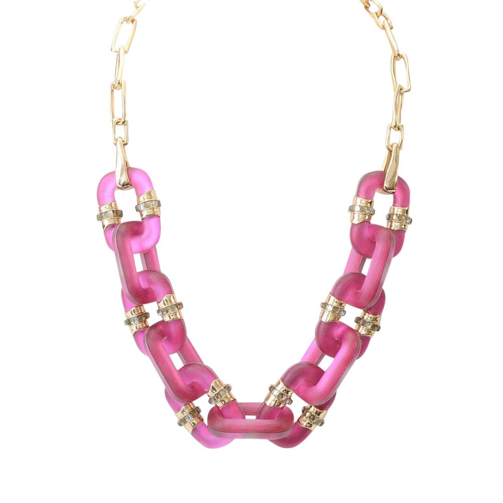 Alexis Bittar Lucite Chain Necklace JEWELRY Alexis Bittar Pink