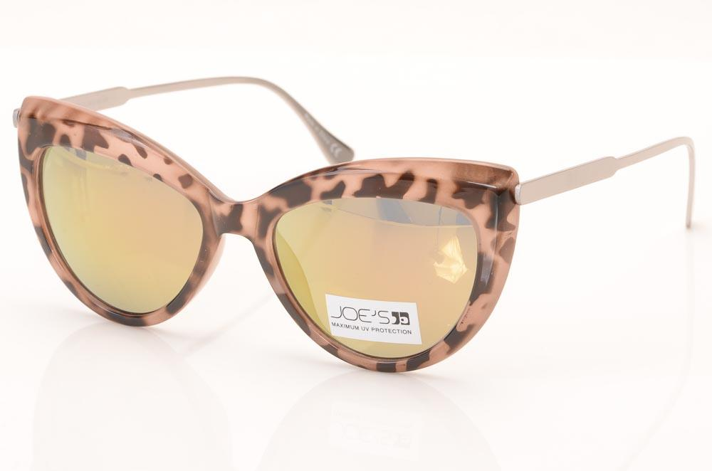 Joe's Mirrored Cat's Eyes Pattern Frame Sunglasses ACCESSORIES Joe's Pink