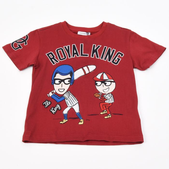 Boys' Dolce & Gabbana T-Shirt Sports Top - 2T APPAREL Dolce & Gabbana 2T Red