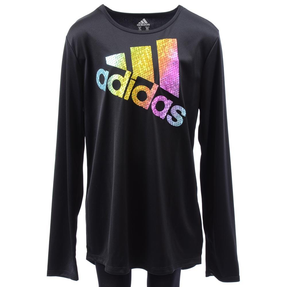 Girls' Adidas Long Sleeve Top APPAREL Adidas X-Large Black