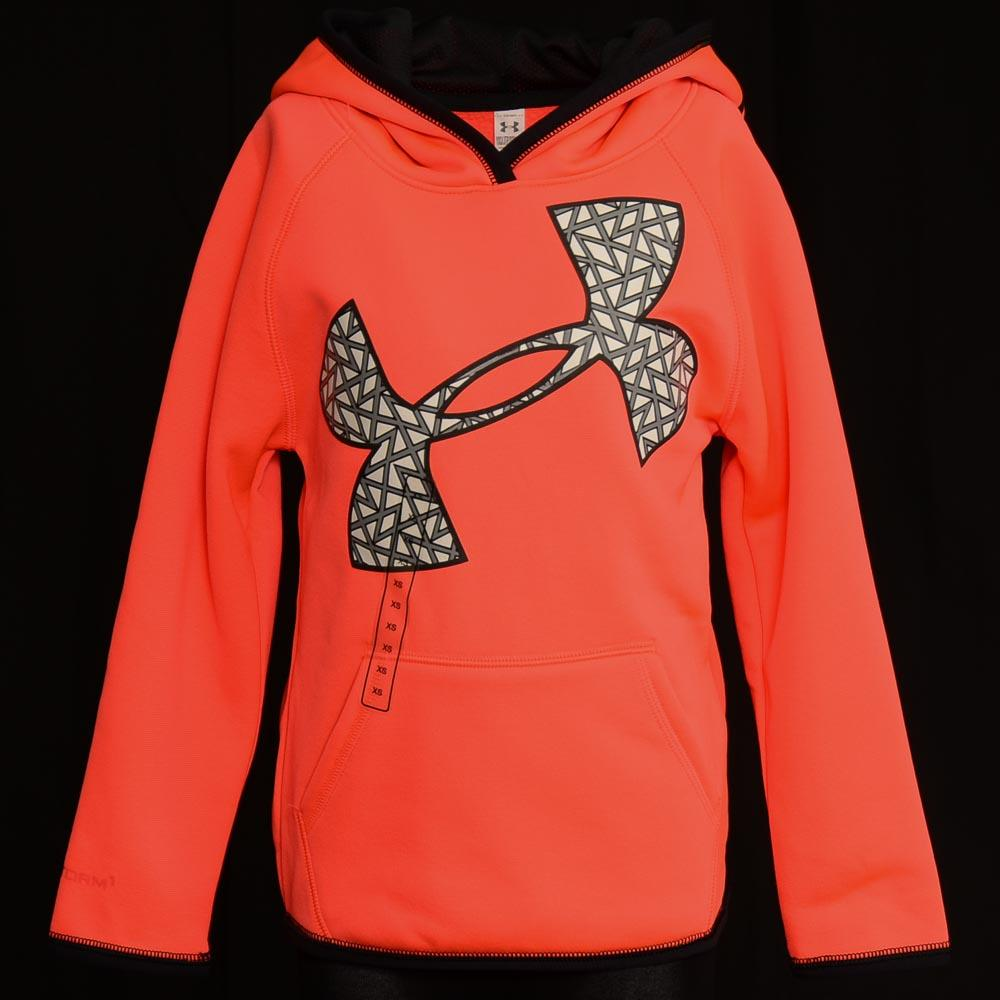 Girls' Under Armour Pullover Hoodie - XS APPAREL Under Armour X-Small Pink