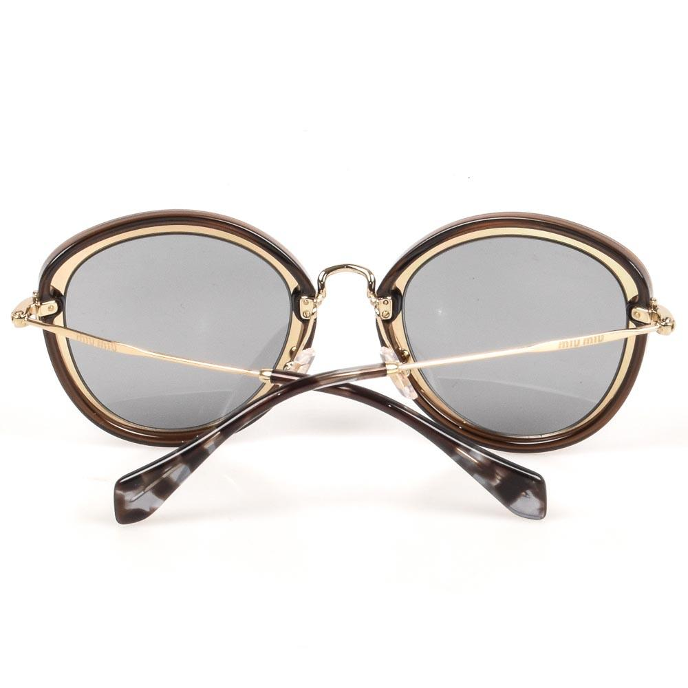 Miu Miu Oval Frame Sunglasses ACCESSORIES Miu Miu