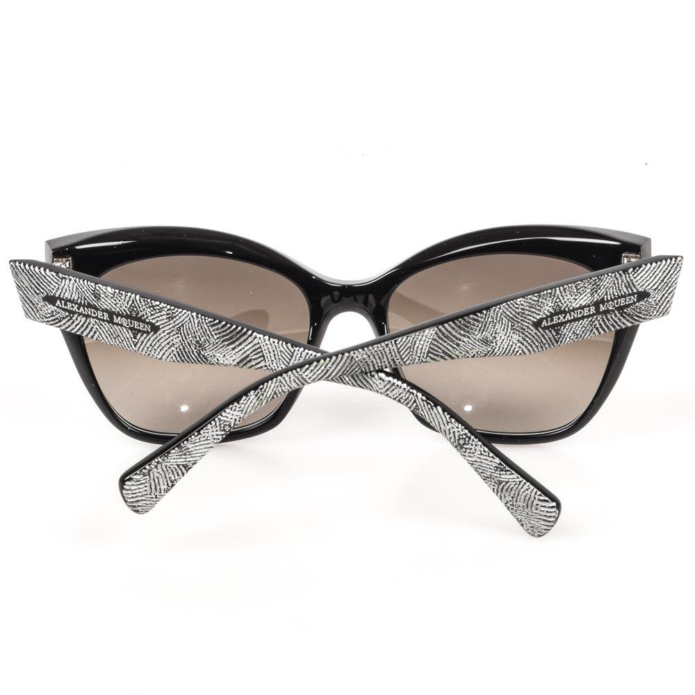 Alexander McQueen Textured Cat Eye Sunglasses ACCESSORIES Alexander McQueen