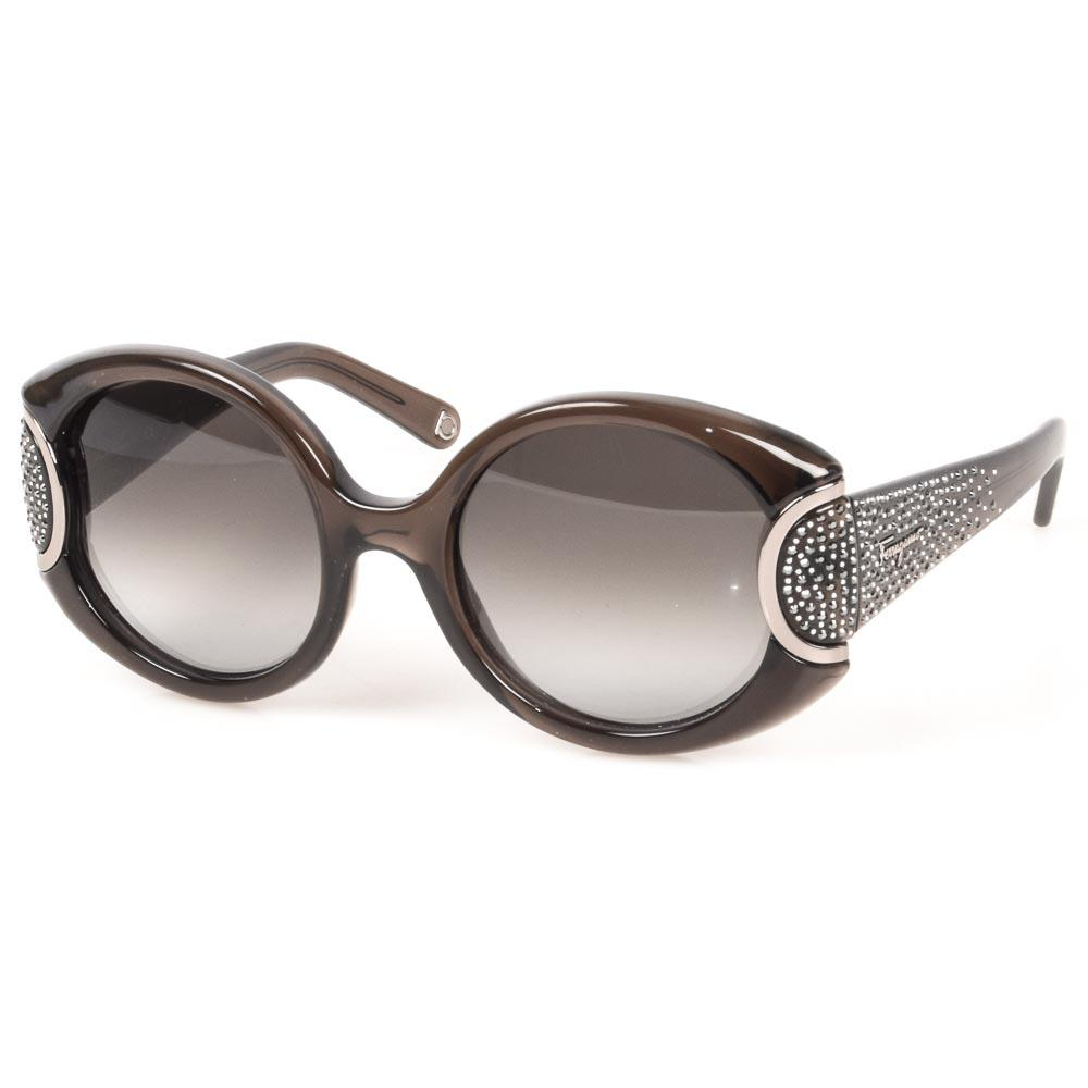 01d043f17e Salvatore Ferragamo Signature Crystal Sunglasses ACCESSORIES Salvatore  Ferragamo Brown