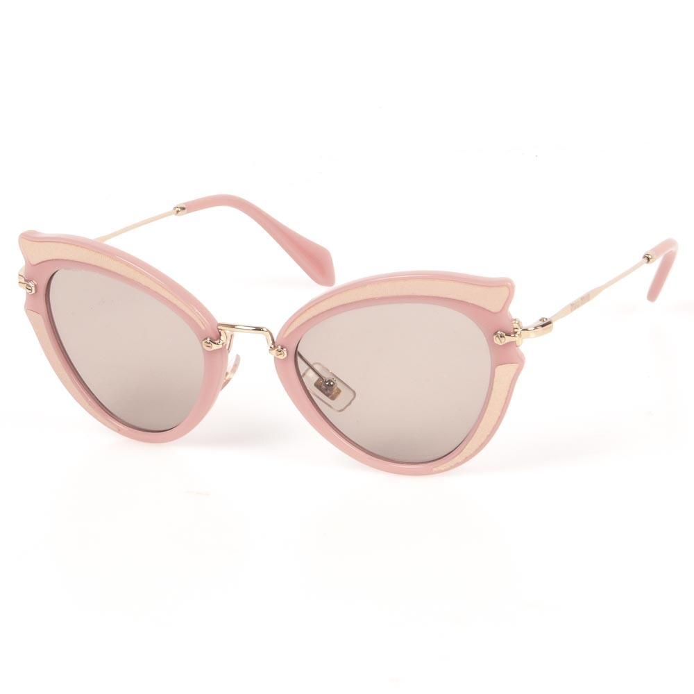 Miu Miu Ocher Cat's Eyes Sunglasses ACCESSORIES Miu Miu Pink