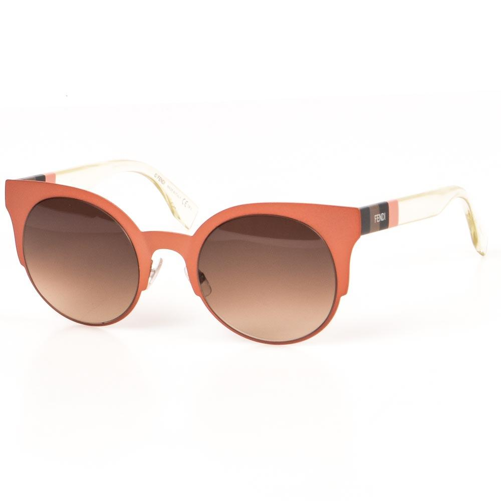 Fendi Penguin Stripe Cat's Eyes Sunglasses ACCESSORIES Fendi Pink