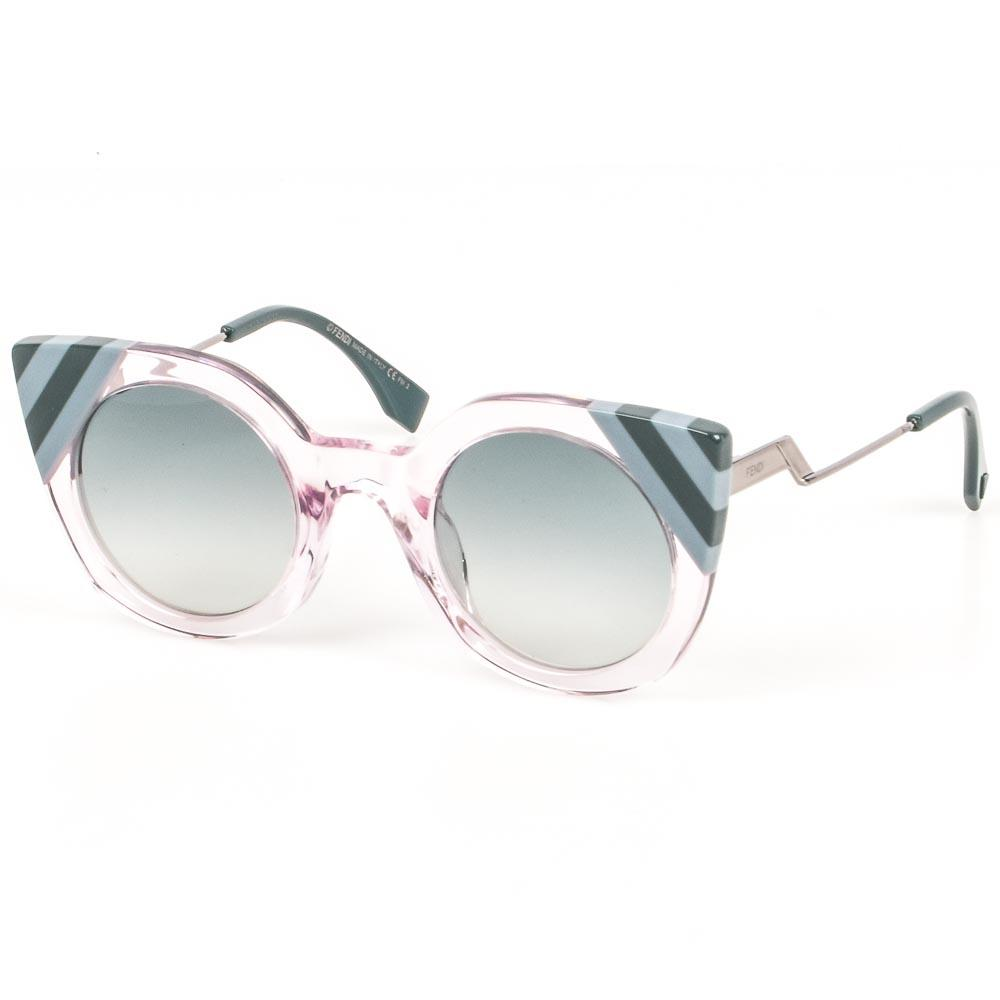 Fendi Waves Stripe Tip Sunglasses ACCESSORIES Fendi Pink