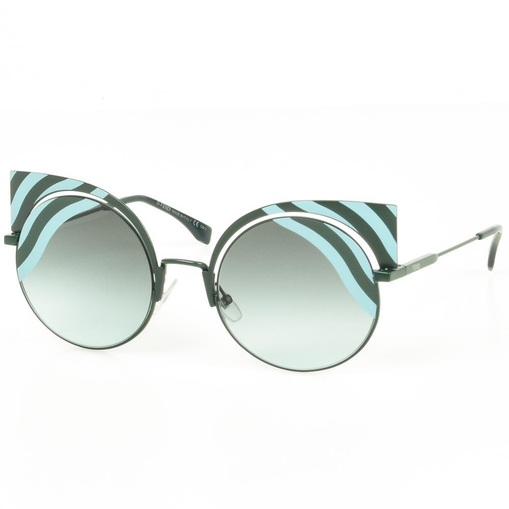 Fendi Hypnoshine Cat's Eyes Sunglasses ACCESSORIES Fendi Green