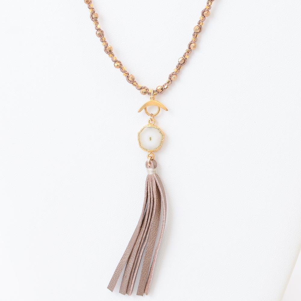 Chan Luu Solar Quartz Tassel Necklace JEWELRY Chan Luu