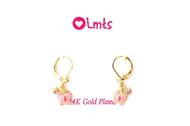Little Miss Twin Stars Pink Butterfly Dangle Earrings JEWELRY Little Miss Twin Stars Default Title