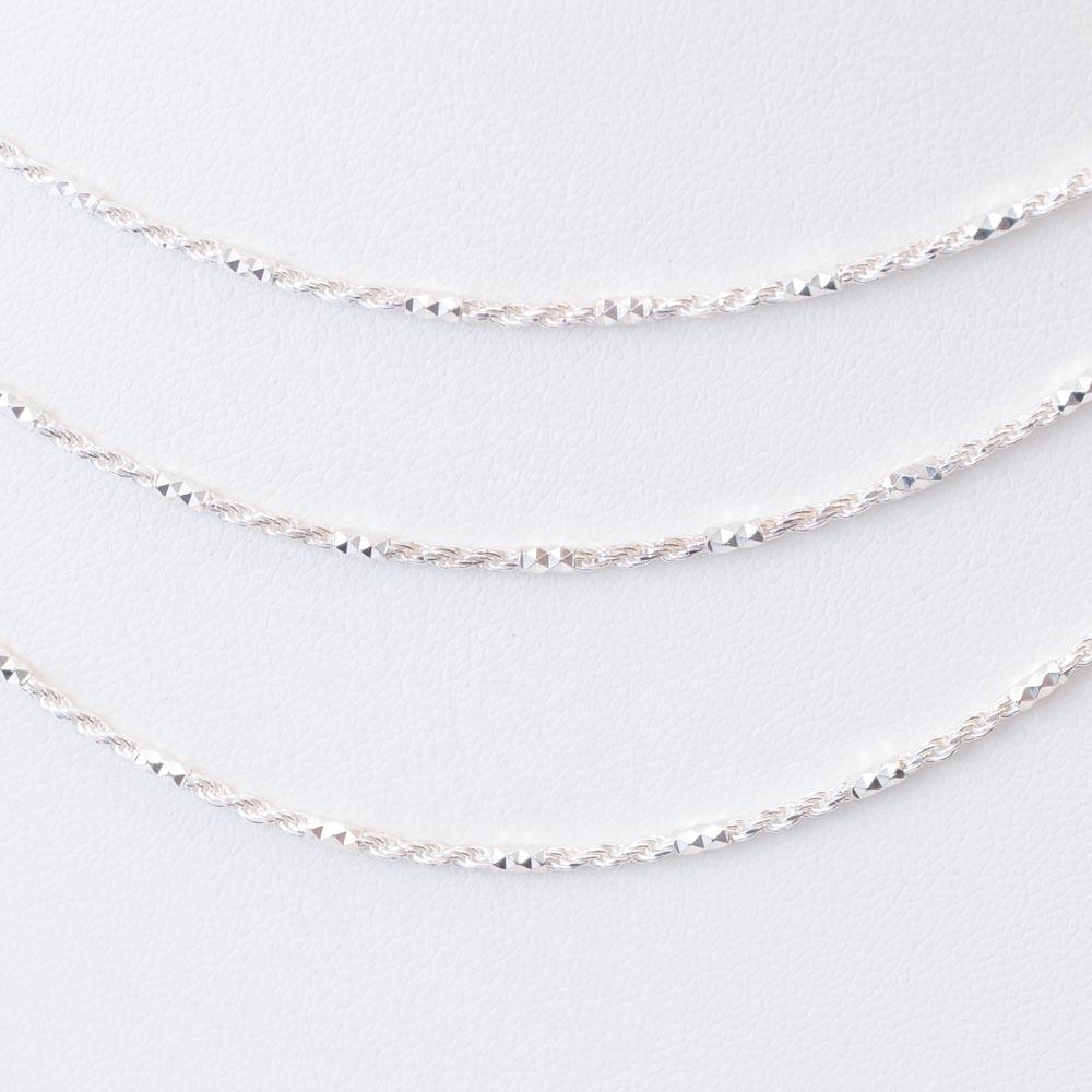 Argento Vivo Sterling Three Row Necklace JEWELRY Argento Vivo