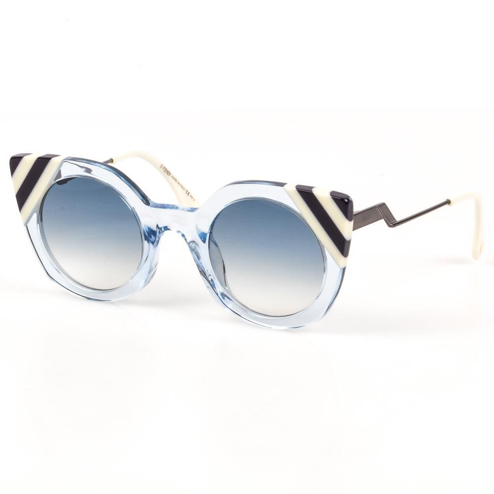 Fendi Waves Stripe Tip Sunglasses ACCESSORIES Fendi Blue