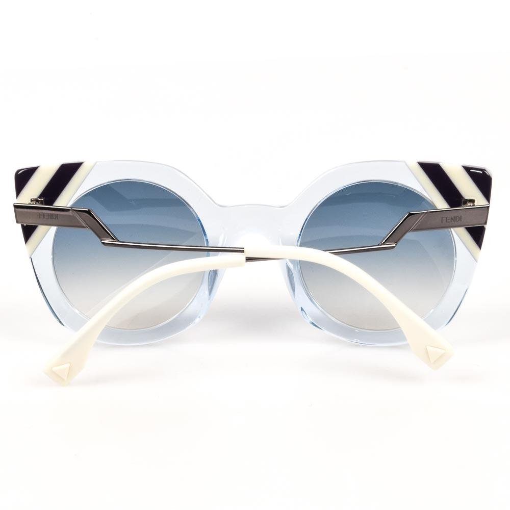Fendi Waves Stripe Tip Sunglasses ACCESSORIES Fendi