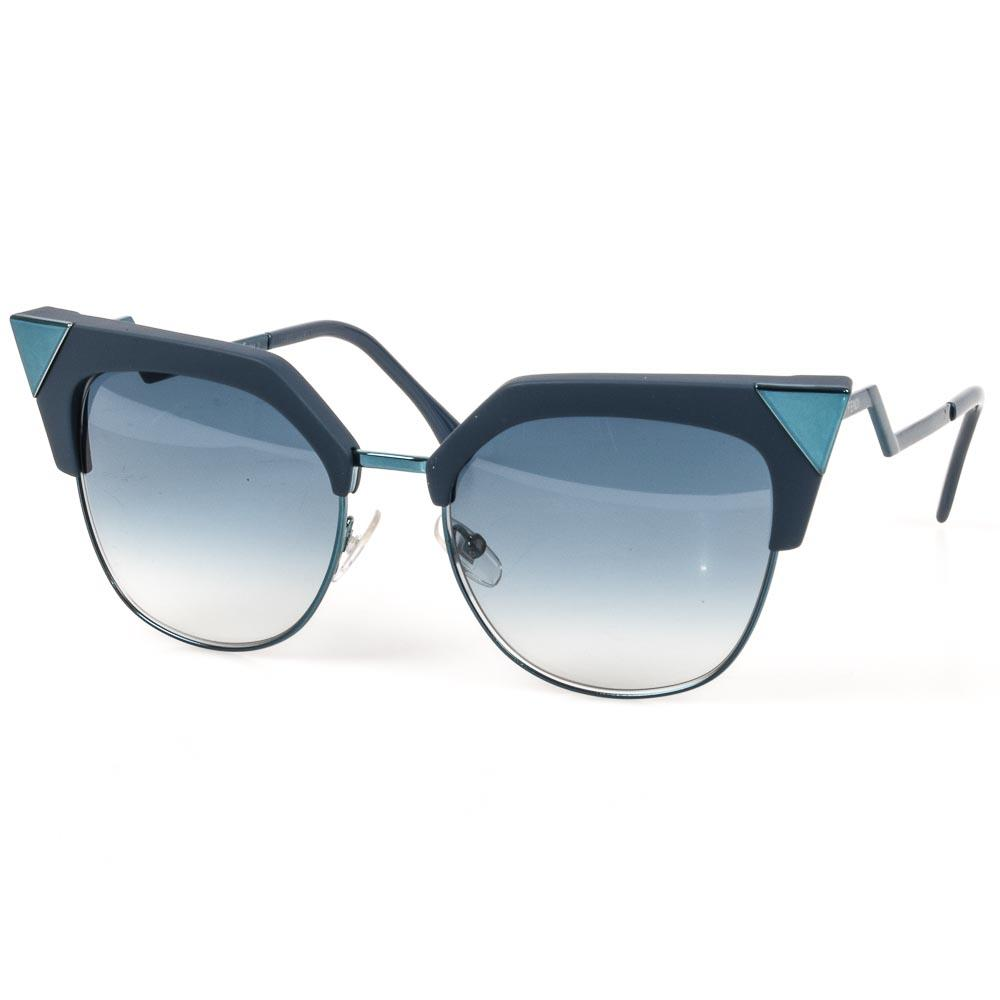 Fendi Iridia Tipped Cat's Eyes Sunglasses ACCESSORIES Fendi Blue