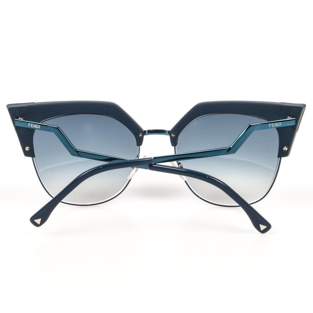 Fendi Iridia Tipped Cat's Eyes Sunglasses ACCESSORIES Fendi