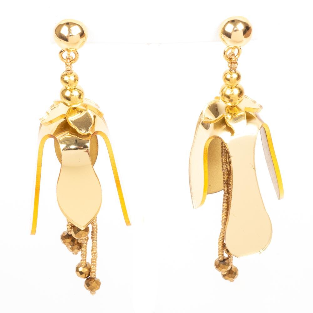 Oscar De La Renta Orchid Earrings JEWELRY Oscar De La Renta Gold