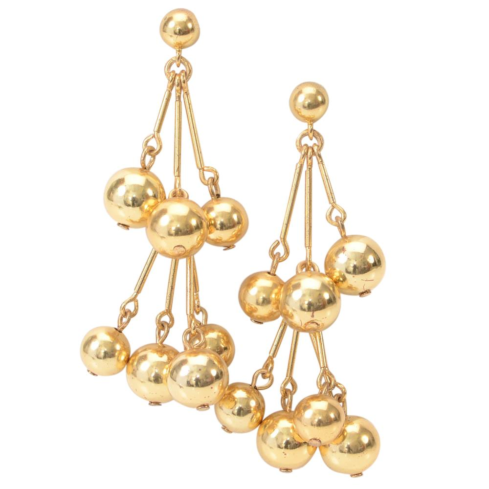 J.Crew Ball Cascade Tiered Drop Earrings JEWELRY J.Crew Default Title