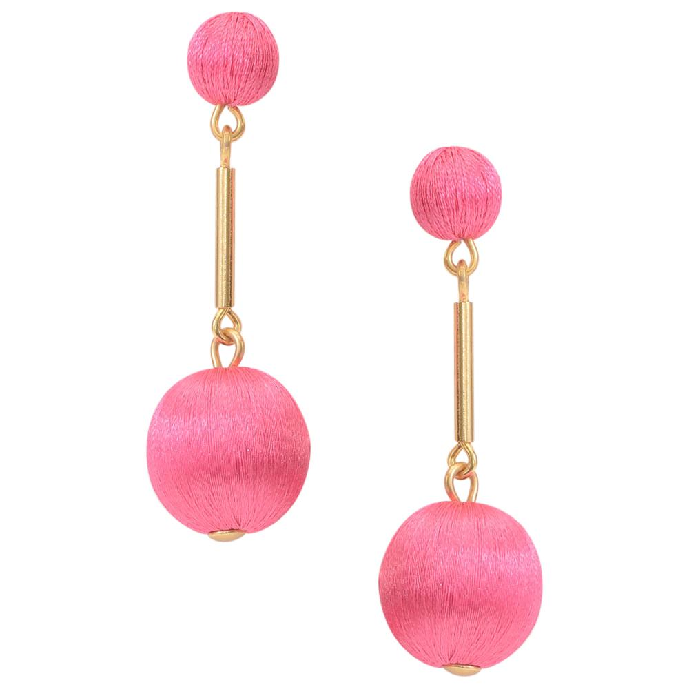 J.Crew Thread Ball Drop Dangle Earrings JEWELRY J.Crew Pink