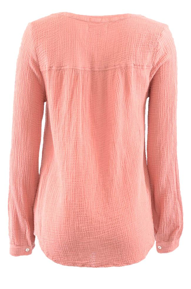 Velvet by Graham & Spencer Woven V-Neck Top - S APPAREL Velvet by Graham & Spencer