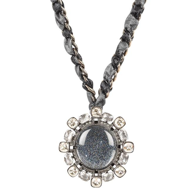 Lanvin Woven Chain Link Pendant Statement Necklace JEWELRY Lanvin