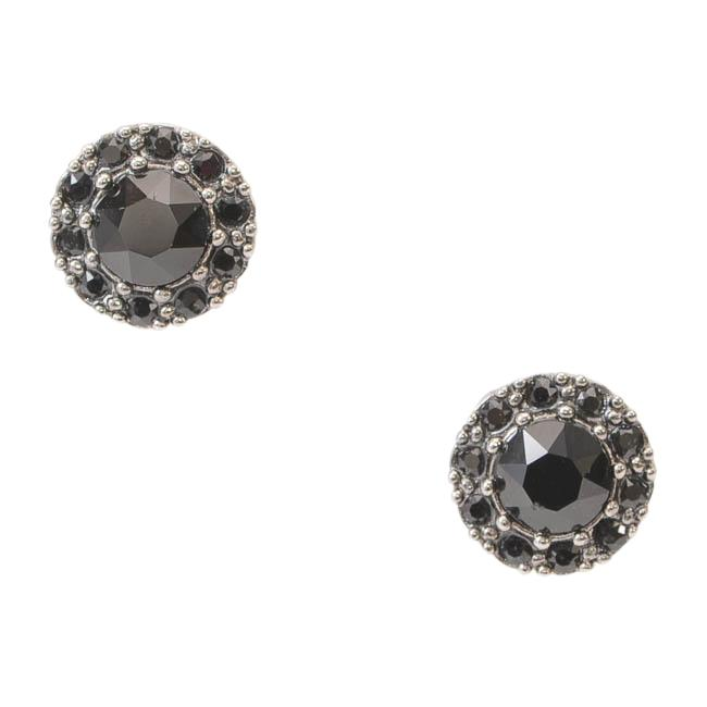 Givenchy Gunmetal-tone Crystal Magnetic Stud Earrings JEWELRY Givenchy