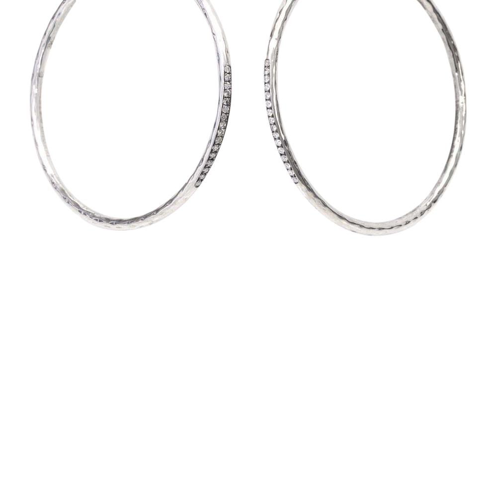 Ippolita Stardust 925 Sterling Silver Hoop Earrings JEWELRY Ippolita Silver