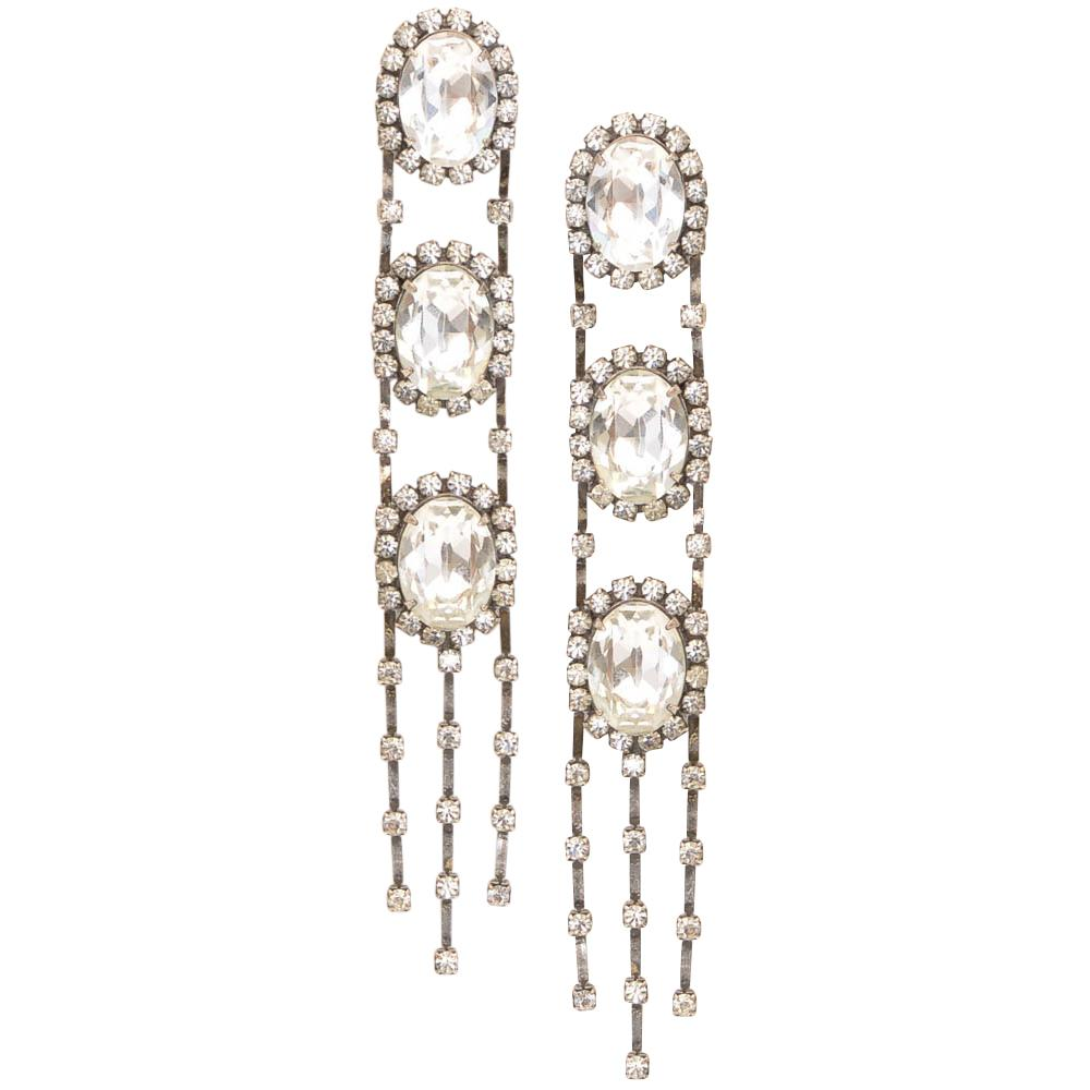 Dannijo Ladie Crystal Statement Earrings JEWELRY Dannijo Default Title