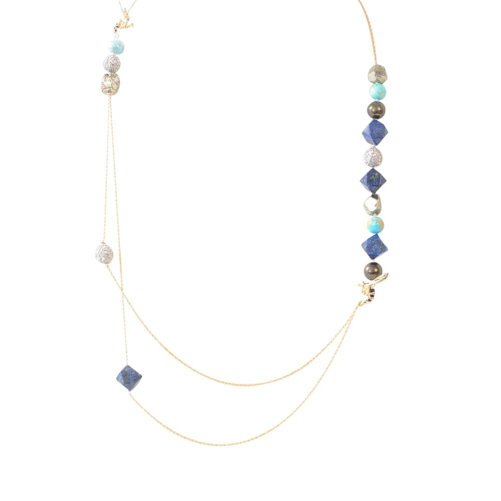 Alexis Bittar Bee Mixed Stone Crystal Strand Necklace JEWELRY Alexis Bittar