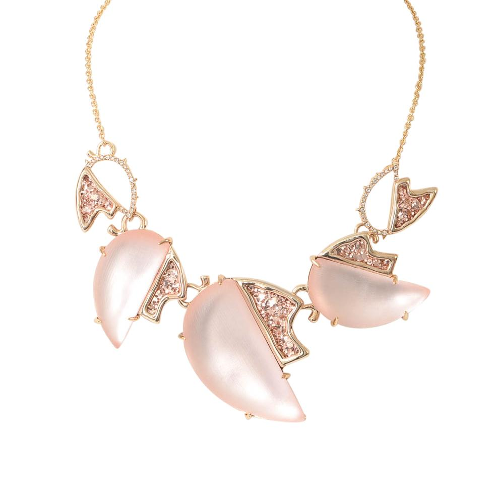 Alexis Bittar Lucite Crystal Glitter Collar Necklace JEWELRY Alexis Bittar
