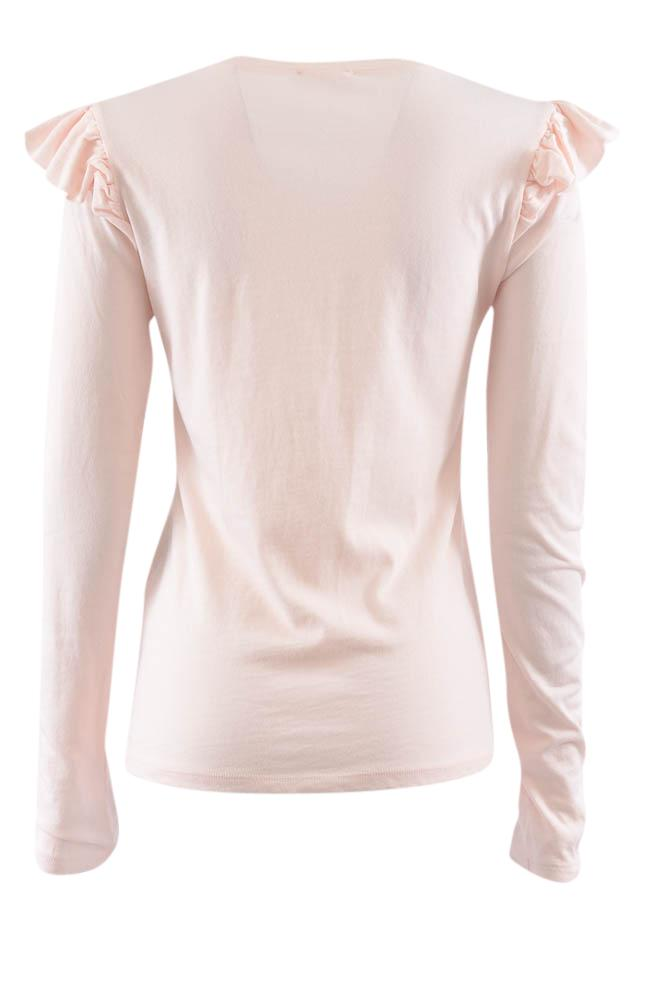 Frame Pullover Ruffled Long Sleeve Top - S APPAREL Frame