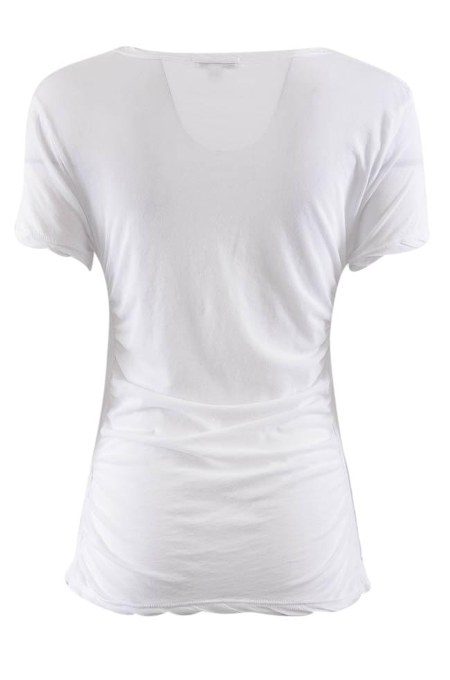 James Perse Ruched Short Sleeve T-Shirt - M APPAREL James Perse
