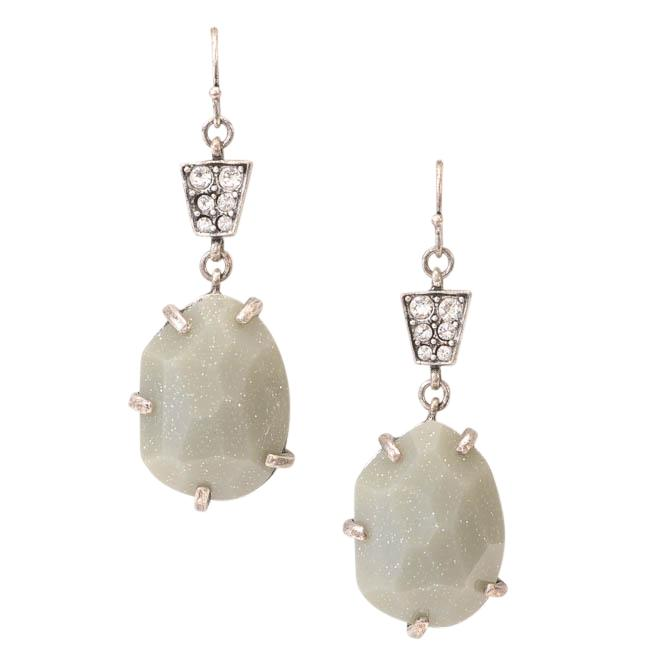 Gerard Yosca Silver-tone Crystal Drop Earrings JEWELRY Gerard Yosca Default Title