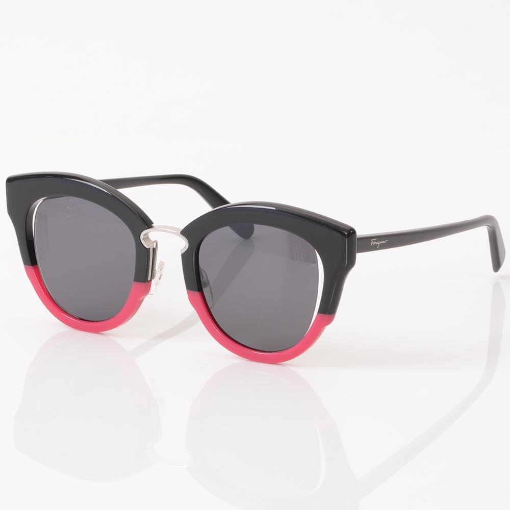 Salvatore Ferragamo Cat Eye Frame Sunglasses ACCESSORIES Salvatore Ferragamo Black/Red