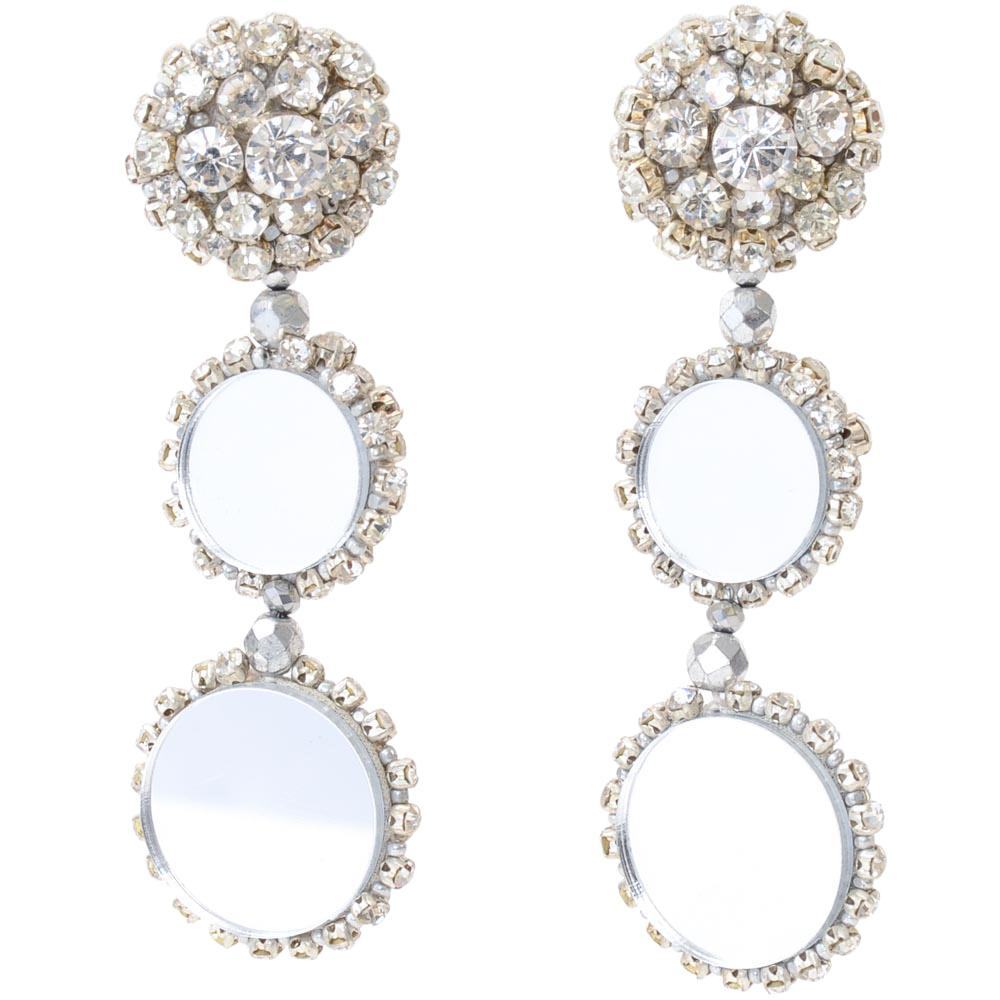 Oscar De La Renta Tiered Circle Dangle Earrings JEWELRY Oscar De La Renta