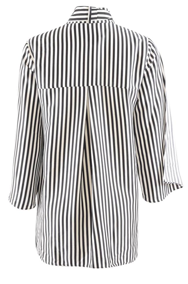 Kenneth Cole Striped Split Flutter Sleeve Tunic - S APPAREL Kenneth Cole