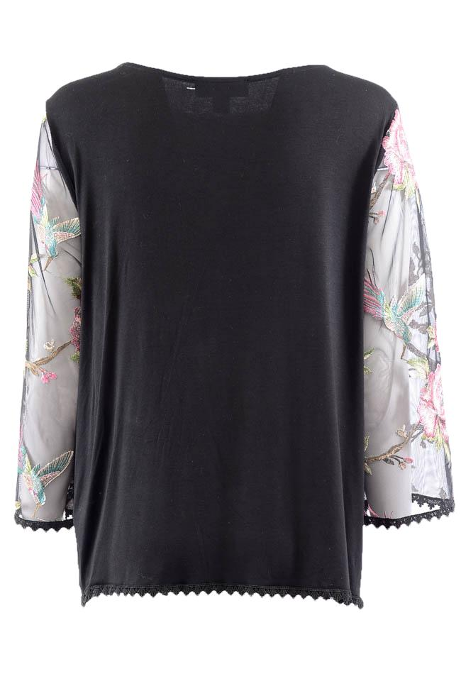 Karen Kane Floral Embroidered 3/4 Sleeve Top - XL APPAREL Karen Kane