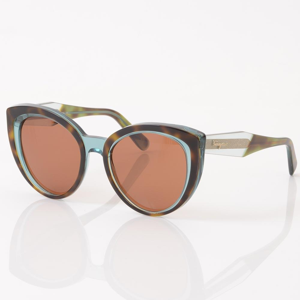 Salvatore Ferragamo Tortoise Cat's Eyes Sunglasses ACCESSORIES Salvatore Ferragamo Brown