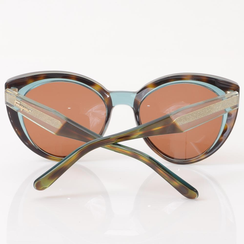 Salvatore Ferragamo Tortoise Cat's Eyes Sunglasses ACCESSORIES Salvatore Ferragamo