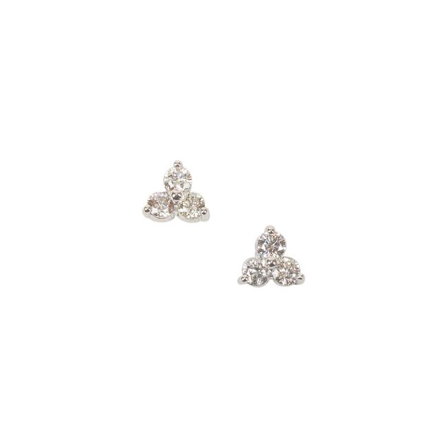 Suzy Levian 14k White Gold Diamond Stud Earrings JEWELRY Suzy Levian Silver