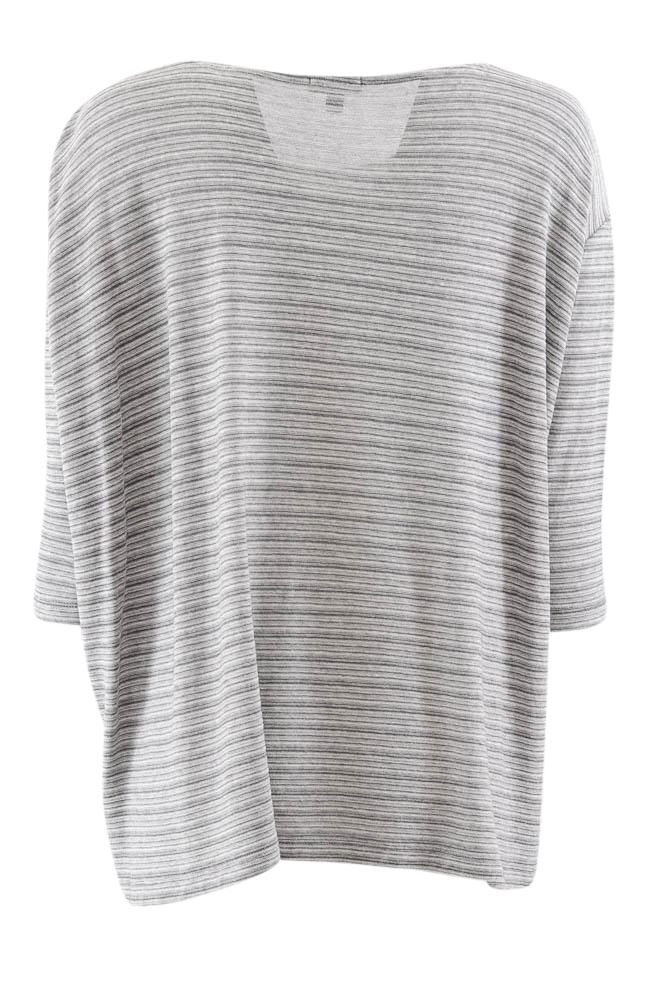 Lilla P Scoop Neck Striped 3/4 Sleeve Top - XS APPAREL Lilla P