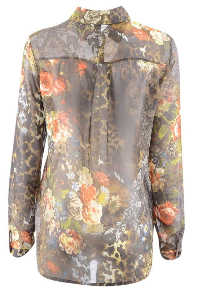 Sau Paulo Floral Print Long Sleeve Button Down Blouse - S APPAREL Sau Paulo