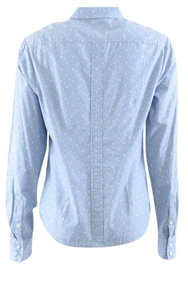 Penguin Printed Denim Button Down Long Sleeve Shirt - M APPAREL Penguin