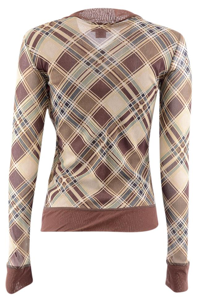 Petit Pois by Viviana Plaid Zip Up Long Sleeve Top - M APPAREL Petit Pois by Vivana